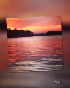 Colorful Sunset On Lake Jackson, GA